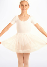 Tappers & Pointers Spotted Voile Dance Skirt White. [White]