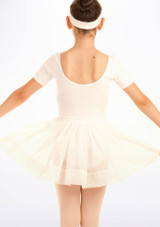 Tappers & Pointers Spotted Voile Dance Skirt White #2. [White]