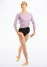 Tappers & Pointers Knit Ballet Wrap Adults Purple #2. [Purple]