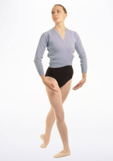Tappers & Pointers Knit Ballet Wrap Adults Blue #3. [Blue]