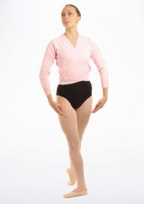Tappers & Pointers Knit Ballet Wrap Adults Pink #2. [Pink]