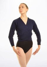 Tappers & Pointers Knit Ballet Wrap Adults Blue #2. [Blue]