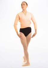 Tappers & Pointers Knit Ballet Wrap Adults Pink. [Pink]