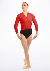Tappers & Pointers Knit Ballet Wrap Adults Red. [Red]