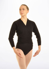 Tappers & Pointers Knit Ballet Wrap Adults Black. [Black]