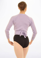 Tappers & Pointers Knit Ballet Wrap Adults Purple #4. [Purple]