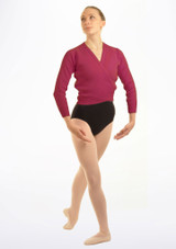 Tappers & Pointers Knit Ballet Wrap Adults Purple #3. [Purple]
