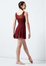 Move Evie Mesh Cover-up Dress Red back. [Red]
