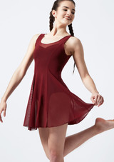 Move Evie Mesh Cover-up Dress Red front. [Red]
