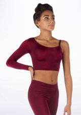 Alegra Shiny Echo Dance Top Red front. [Red]