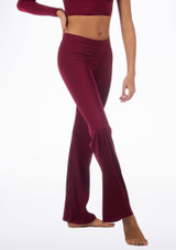 Alegra Shiny Jazz Pant Red front. [Red]