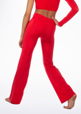 Alegra Shiny Jazz Pant Red back. [Red]