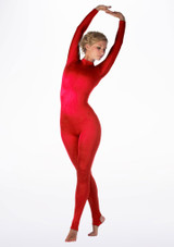 Alegra Shiny Aspen Catsuit Red front #2. [Red]