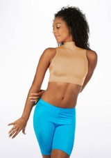 Alegra Shiny Maris Dance Crop Top Tan front.