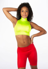 Alegra Shiny Maris Dance Crop Top Yellow front #2. [Yellow]