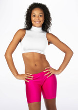 Alegra Shiny Maris Dance Crop Top White front. [White]