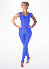 Alegra Shiny Deanna Unitard Blue back. [Blue]
