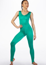 Alegra Shiny Deanna Unitard Green main image. [Green]