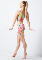 Alegra Patterned Cycle Unitard colour swatch #3. [Patterned]