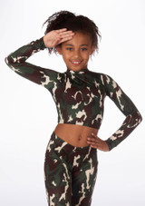 Alegra Girls Patterned Raya Dance Top colour swatch. [Patterned]