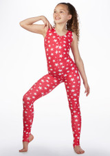 Alegra Girls Patterned Deanna Unitard front. [Patterned]