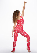 Alegra Girls Patterned Deanna Unitard back. [Patterned]