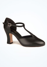 So Danca T strap Character Shoe 3  Black. [Black]""