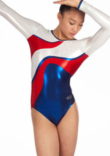 Zone Merit Long Sleeve Gymnastics Leotard Red. [Red]