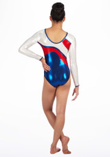 Zone Merit Long Sleeve Gymnastics Leotard Red #3. [Red]