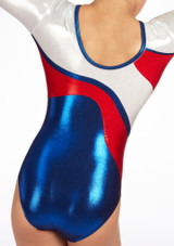 Zone Merit Long Sleeve Gymnastics Leotard Red #7. [Red]