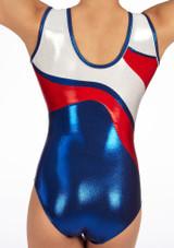 Zone Merit Sleeveless Gymnastics Leotard Red #4. [Red]