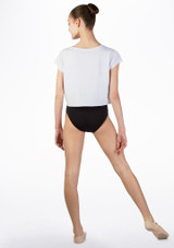 So Danca Kids Dance Cropped T Shirt White back. [White]