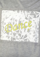 So Danca Kids Dance Cropped T Shirt Grey front #2. [Grey]
