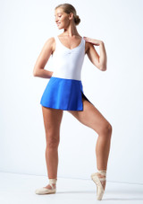 Ballet Rosa Pull On Skirt Royal Blue Front-1 [Royal Blue]