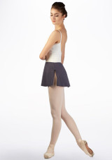 Ballet Rosa Pull On Skirt Grey side. [Grey]