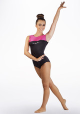 Alegra Girls Spirit Sleeveless Gymnastics Leotard Pink front #2. [Pink]