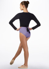 Move Kiara Teen Ballet Wrap Black back. [Black]