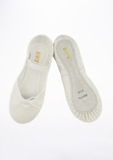 Bloch Sparkle Full Sole Ballet Shoe White front. [White]