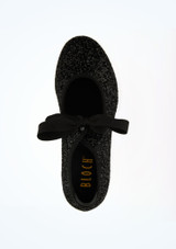 Bloch Glitter Low Heel Tap Shoe Black top. [Black]