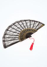 Frill Lace Fan Black top. [Black]