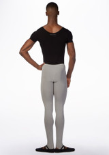 Ballet Rosa Mens Short Sleeve Leotard Black back. [Black]