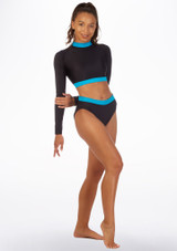 Alegra Fuse High Waist Brief Blue front. [Blue]