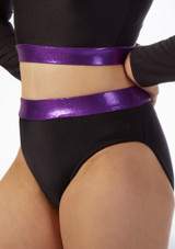 Alegra Fuse High Waist Brief Black-Purple front. [Black-Purple]