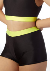 Alegra Fuse High Waist Brief Black-Yellow front. [Black-Yellow]