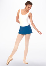 Grishko Short Pull On Ballet Skirt Blue front. [Blue]
