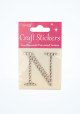 Individual Alphabet Stickers Silver front #4. [Silver]