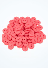 Coloured Buttons 100 Pieces Pink front. [Pink]