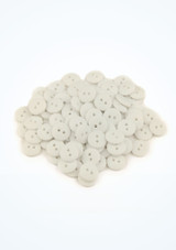 Coloured Buttons 100 Pieces White front. [White]