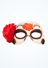 Day Of The Dead Mask White front. [White]