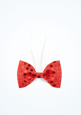 Sequined Bow Tie Red main image. [Red]